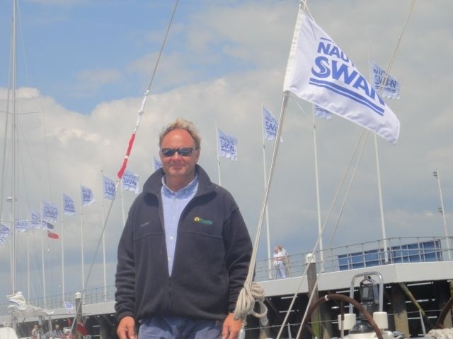 Colin Buffin owner of the Swan62 Uxorious IV - photo Nautor Swan