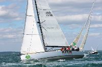 Nigel Passmore's J/133, Apollo 7, in the 2013 Rolex Fastnet Race. Photo: Tim Wright photoaction.com