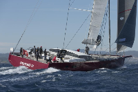 Finot Conq maxi 100, Nomad IV, entered into the inaugural RORC Transatlantic Race 2014. Photo: Gilles Martin Raget/Finot Conq