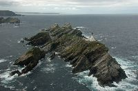 Muckle Flugga, the most northerly point of the course