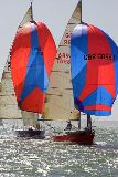 Double-Handed under Spinnaker during the Royal Southampton Spring Double - photo RSYC