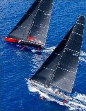 Comanche and Rambler lined up for the first time in the 2015 Les Voiles de St. Barth © Christophe Jouany