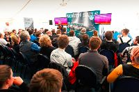 Standing room only at the Easter Challenge debrief in the RORC Clubhouse, Cowes - photo Paul Wyeth