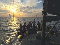 at twilight during the 2015 Morgan Cup Race - photo Frank Gerber/Tonnerre 4