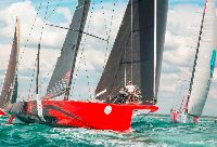 Comanche at the start of the 2015 Rolex Fastnet Race - photo Rolex/Daniel Forster