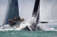 Tonnerre 4 enjoying the breezy conditions in the Western Solent - photo RORC/Paul Wyeth
